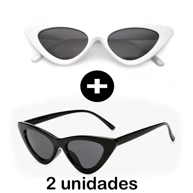 2x óculos de sol feminino gatinho estiloso proteção 2018. Carregando zoom. dd1c47fcbc