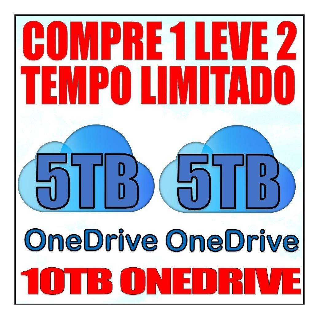 2x Onedrive 5tb + Office 365 2019 Melhor Que Google Drive