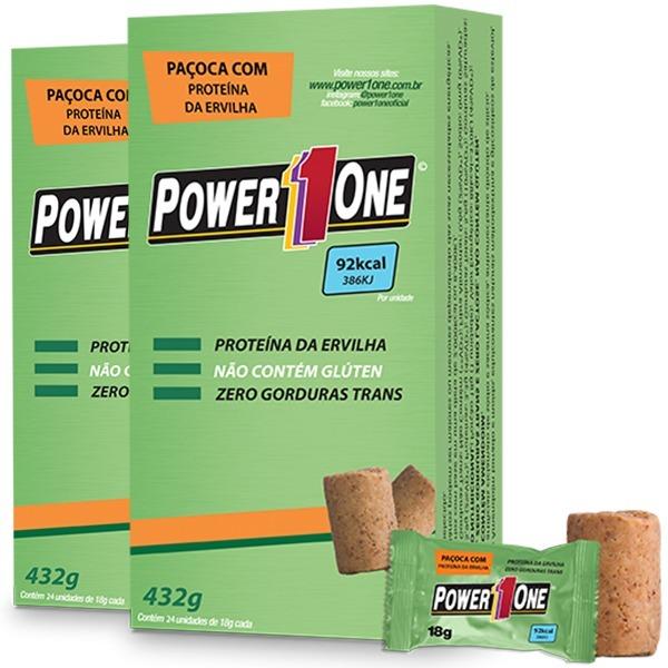 11bbe0d10 2x Paçoca Com Ervilha Proteica Vegana ( 24 Un ) - Power One - R  54 ...