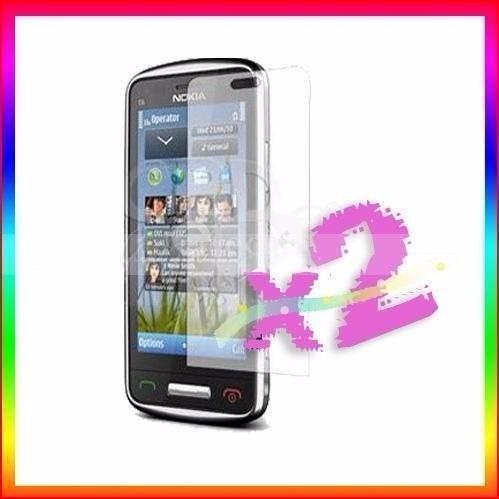2x plastico protector táctil celulares nokia c6-01 play3