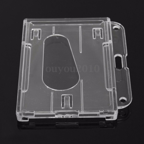 2x plásticos duro transparente horizontal id card kamelia.me