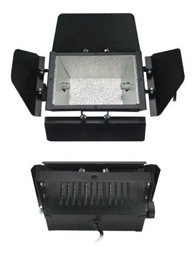 2x refletor colortran com lampada - 300w / 500w / 1000w