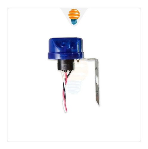 2x relé fotoelétrico fotocélula + base ascende/apaga bivolt