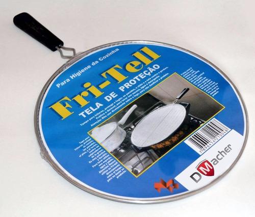 2x tampas panela, tela proteção gordura, capa de óleo