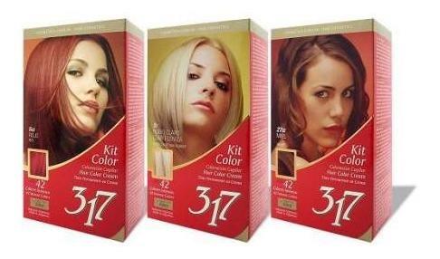 (2x) tinta kit 317 rubio oscuro 6