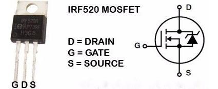 2x Transistor Mosfet Irf520 Ir To220 10a 100v = Fqp13n10 Px