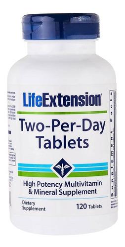2x two per day 120 = 240 tab life extension multivitamínico