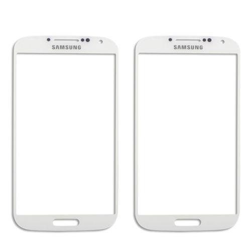 2x vidrios blanco front outer para samsung galaxy s4 siv i95