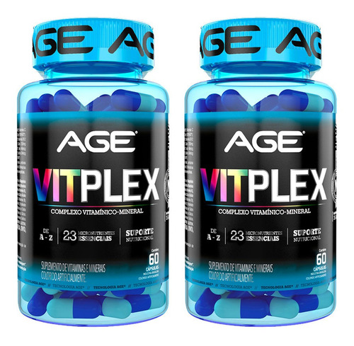 2x vitplex age 60 cáps multivitamínico