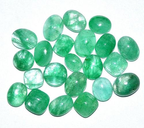 2x1 cabujones de esmeralda de colombia oval cuarzo sanacion