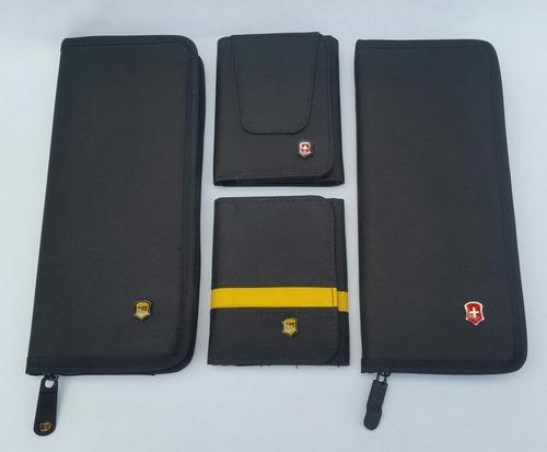 2x1 cartera y portachequera cat y victorinox disponibles