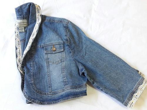 2x1 chaqueta crop mujer mezclilla celeste y broderie t/l