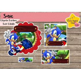 2x1 Etiquetas Escolares Kit Imprimible Sonic