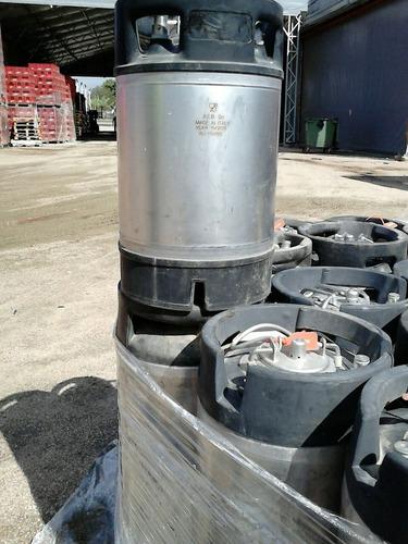 2x1 garrafas tipo barril de cerveza en acero inoxidable