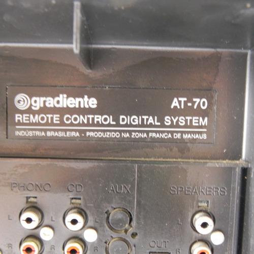 2x1 gradiente at-70 tapedeck e rádio vintage - usado