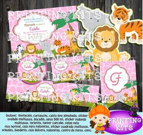 Baby Shower Safari Nino Decoracion.2x1 Kit Imprimible Baby Shower Safari Bienvenida Nina