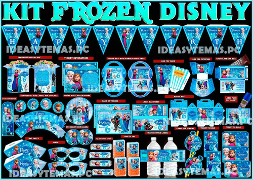2x1 kit imprimible frozen disney powerpoint 100% editable