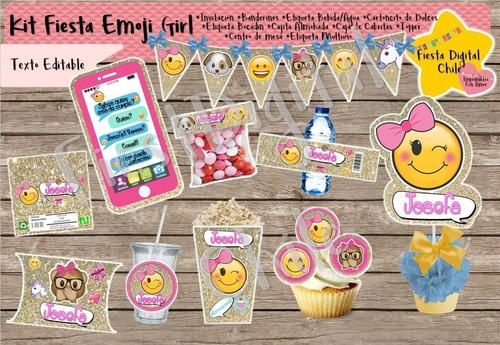 2x1 kit imprimible personalizado cotillon fiesta emoji party