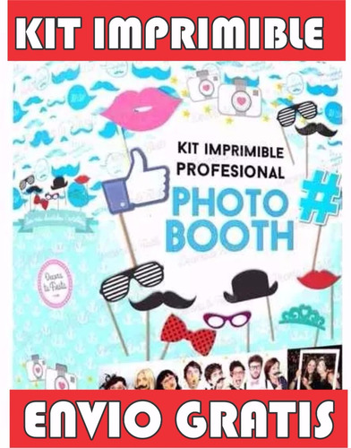 2x1 kit imprimible photo booth props cumpleaños baby shower