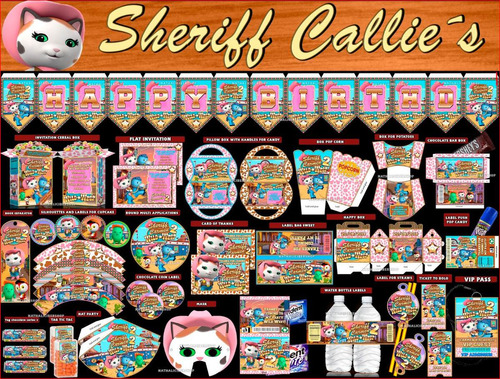 2x1 mega kit imprimible sheriff callies, editable powerpoint