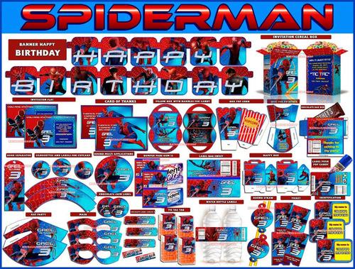 2x1 mega kit imprimible spiderman textos editables