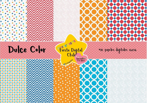 2x1 papel digital dulce color fdc