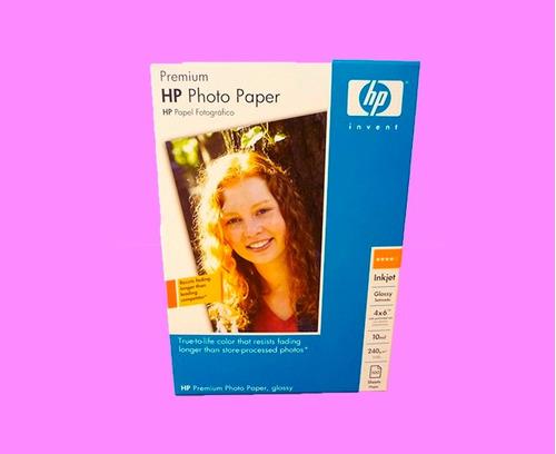 2x1 papel fotografico hp glossy premium 6x4 20hjs envio