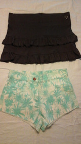 2d2a06a82 2x1 Pollera Kosiuko Mini Falda + Pantalon Shorts Talle S