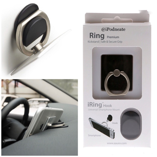 2x1 ring anillo celular tipo popsocket + soporte para carro