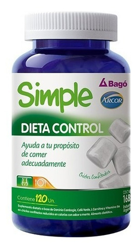 2x1 simple dieta control  bago arcor perdida peso 120 chicle