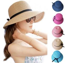 c8679ae9 Sombrero De Paja Redondo - Gorros y Sombreros Nuevo en Mercado Libre ...