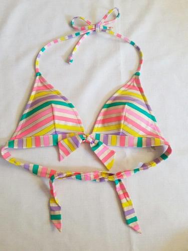 2x1 top triangular de bikini victoria's secret talla m