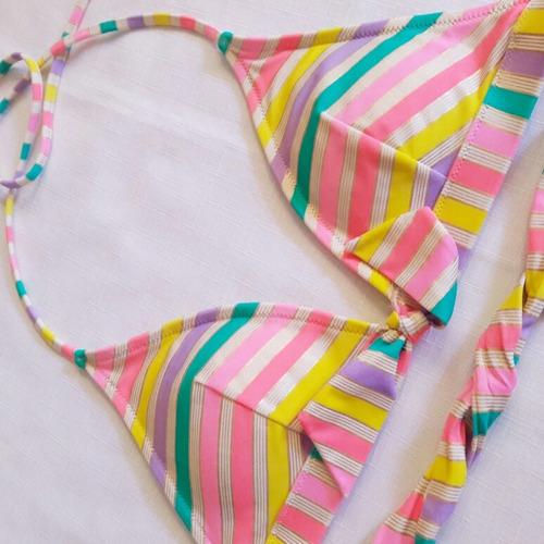2x1 top triangular de bikini victoria's secret t/m lineas