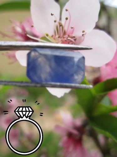 2x1 zafiro octagon para anillo dije aretes envió gratis