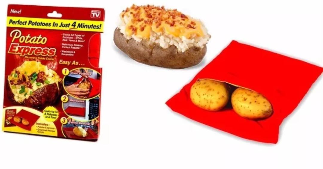 2x3000 bolsa express para cocinar papas en microondas for Cocinar microondas