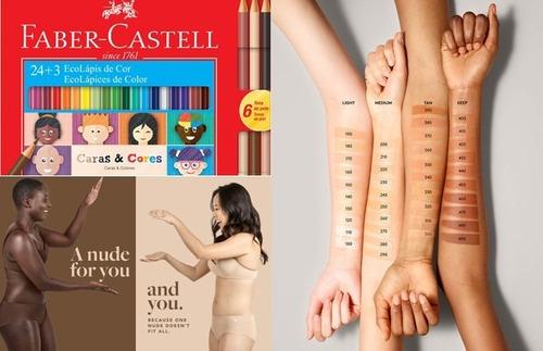 2xlápis d cor ecolápis 12 cores + 6 tons pele faber castell