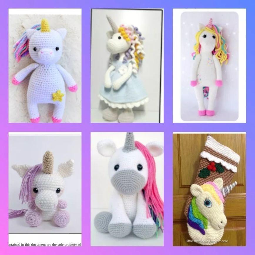 3 + 1 Patrones Amigurumis Unicornios Crochet Inglés/españ - $ 60,00 ...