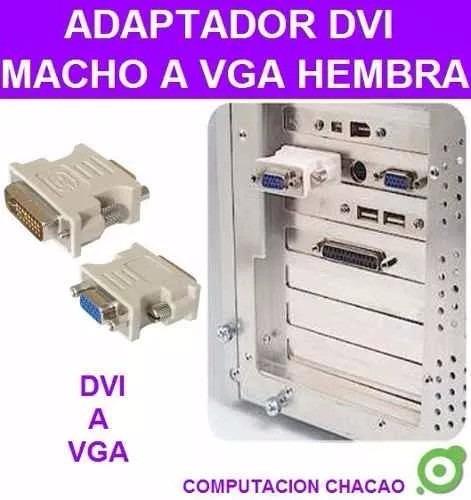 3 adaptador convertidor dvi 24+5pines macho a vga hembra 15