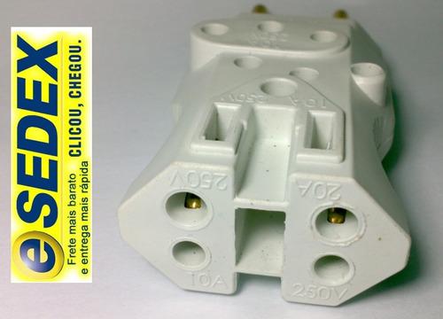 3 adaptador maciç big bob 4x1 - 4 pino em 1 tomada 10a e 20a