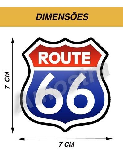 3 adesivo vinil custom route 66 - código 206