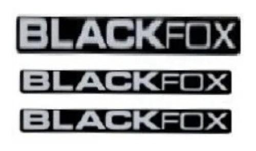 3 adesivos black fox 1 grande e 2 pequeno + brinde