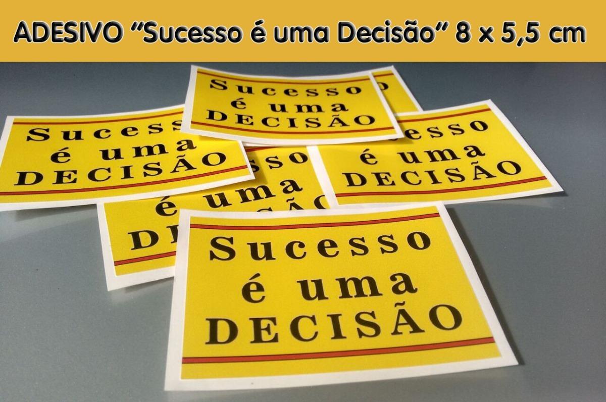 3 Adesivos Motivacionais Sucesso é Uma Decisão Novo