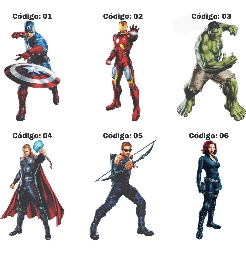 3 Adesivos Parede Os Vingadores Thor Hulk Aovx 30cm R 44 00