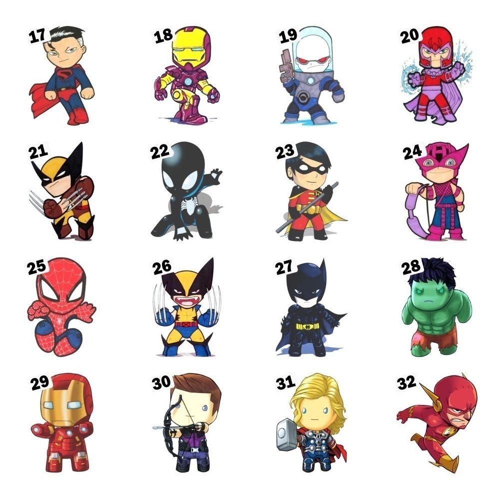 3 Adesivos Super Herois Kids Vingadores Marvel Dc 40 Cm R