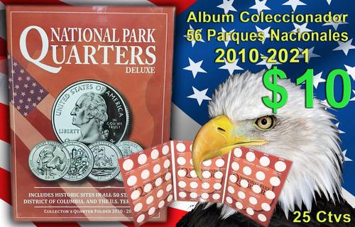 3 album coleccionador para monedas de 25 centavos y 1 dolar