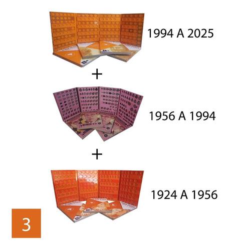 3 álbuns brasil 1924 a 2025 real + cruzeiro + ilustres