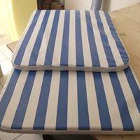 3 almofadas para espreguidaçeira  1,81 x 57 x 3,5 cm