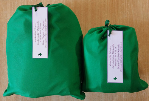 3 almohadas almohaditas termicas para contracturas con funda