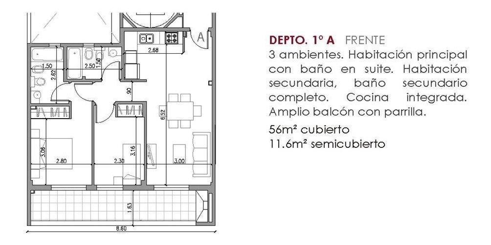 3 amb balcón parrilla losa r. suite cocheras op.