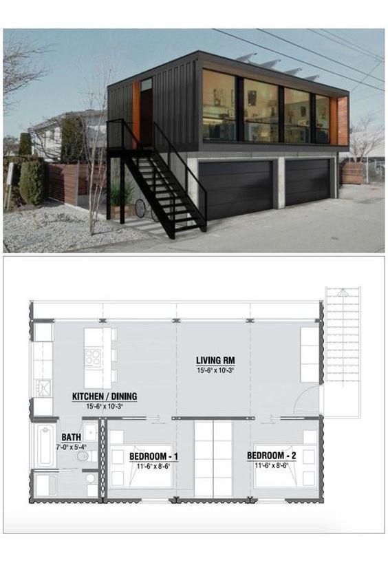 3 ambiente loft dpto ph vivienda container casa 45 mts2 (12)